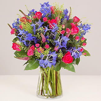 Hot Pink Bouquet With Free Express Delivery