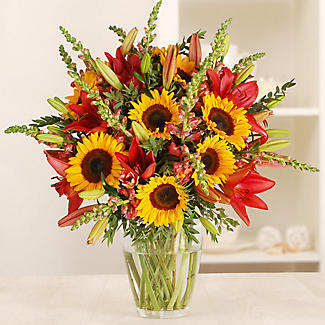 British Sunflower Bouquet with Free Express Delivery