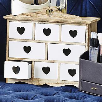 Schubladenkästchen mit Herzdekor alt image 2