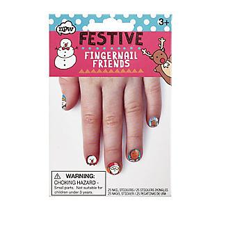 Fingernagel-Freunde mit Weihnachtsmotiven