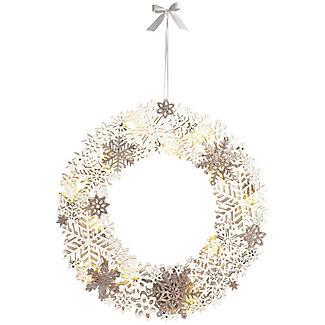 LED Snowflake Wreath