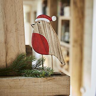 Wooden Robin Decoration alt image 2