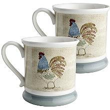 2 Artisan Hen Mugs