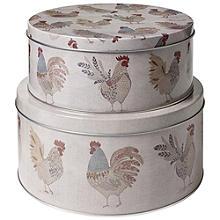 """2 Kuchenbehälter """"Artisan Hen"""""""