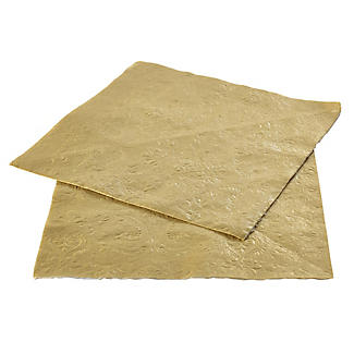 20 Gold Embossed Napkins