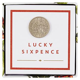 Botanical Christmas Lucky Sixpence