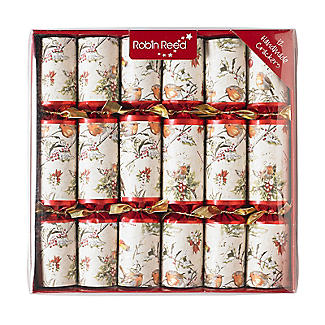 12 Christmas Robin Crackers