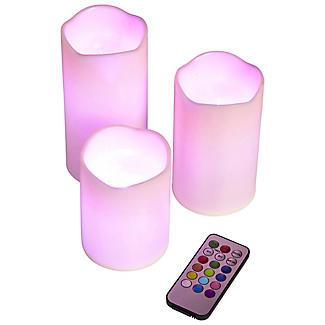 3 Remote Control Colour-Changing Candles alt image 3