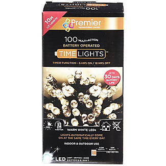 100 Warm White LED Time Lights