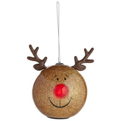 Gold glitter reindeer bauble lakeland - Weihnachtskugeln cappuccino ...