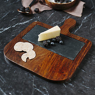 Just Slate Wooden Serving Paddle with Slate Insert alt image 3