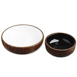 Just Slate Wooden Nesting Bowls