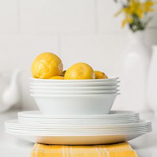 Corelle® 12-teiliges Essgeschirr Weiß alt image 3