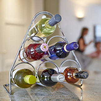 Hahn Pisa 6-Bottle Pyramid Wine Rack alt image 3