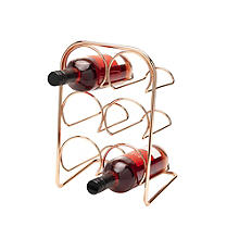 Hahn Pisa 6-Bottle Copper-Plated Wine Rack