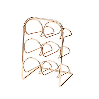 Hahn Pisa 6-Bottle Copper-Plated Wine Rack alt image 2
