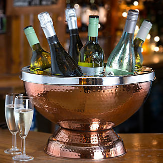 6 Bottle Copper Wine and Champagne Cooler alt image 2