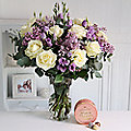 Indulgence Bouquet and Champagne Truffles With Free Express Delivery