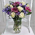 Rose and Agapanthus Bouquet With Free Express Delivery