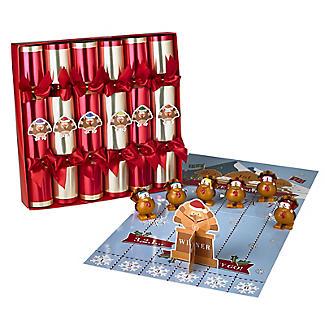 Racing Turkey Christmas Crackers - Pack of 6
