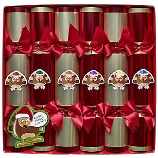 Racing Turkey Christmas Crackers - Pack of 6 alt image 2
