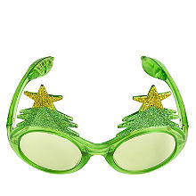 LED Christmas Tree Light-Up Novelty Funglasses