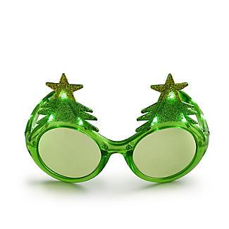 LED Christmas Tree Light-Up Novelty Funglasses alt image 2
