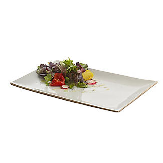 Naturals Rectangular Ceramic Serving Platter - Cream Speckle alt image 3