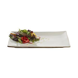 Naturals Rectangular Ceramic Serving Platter - Cream Speckle alt image 4