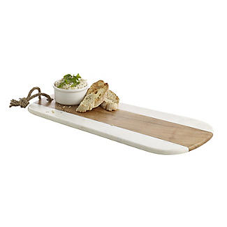 Naturals Long Marble Acacia Serve Board alt image 3