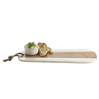 Naturals Long Marble Acacia Serve Board alt image 4