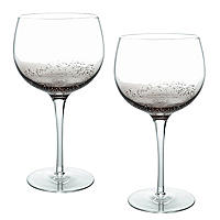 Bubble Glass Balloon Gin Glasses - Set of 2