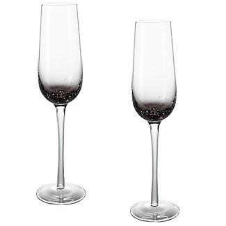 Bubble Glass Prosecco Flutes - Set of 2