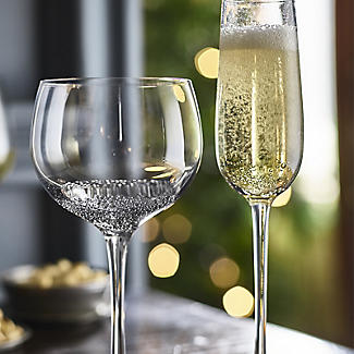 Bubble Glass Prosecco Flutes - Set of 2 alt image 2
