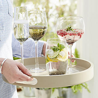 Bubble Glass Prosecco Flutes - Set of 2 alt image 5