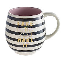 "Tasse zum Aufmuntern ""Fake It Till You Make It"", 470 ml"