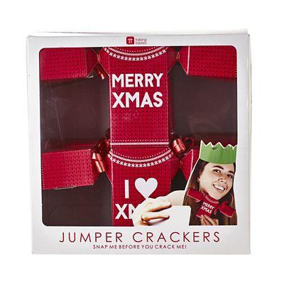 Christmas Jumper Shaped Christmas Crackers X6 Lakeland