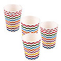 Carnival Partyware Multi Waves Paper Cups – Pack of 8
