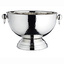 BarCraft Hammered Stainless Steel Champagne Bowl
