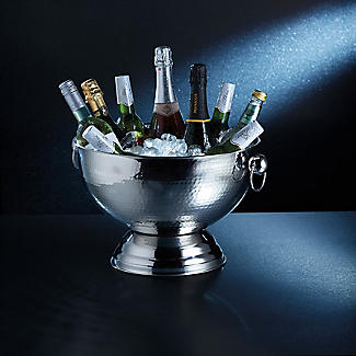 BarCraft Hammered Stainless Steel Champagne Bowl alt image 2