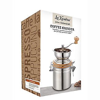 Le'Xpress Stainless Steel Traditional Coffee Grinder alt image 2
