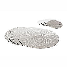 Just Slate Hammered Stainless Steel Place Mats and Coasters Set of 4