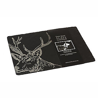 Just Slate Etched Slate Stag's Head Cheese Board
