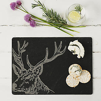 Just Slate Etched Slate Stag's Head Cheese Board alt image 2
