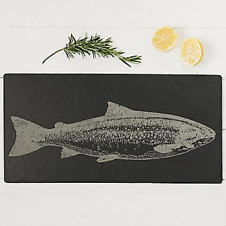 Just Slate Long Etched Slate Salmon Cheese Board  alt image 2