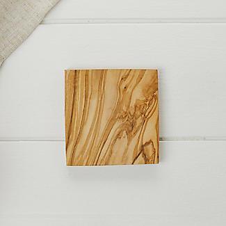 Naturally Med Square Olive Wood Coasters Set of 4 alt image 2