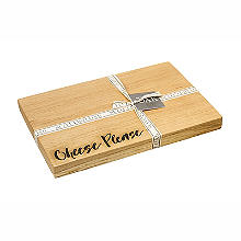 Just Slate Scottish Oak Etched Cheese Please Serving Board