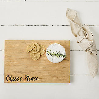 Just Slate Scottish Oak Etched Cheese Please Serving Board  alt image 2