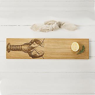 Just Slate Long Scottish Oak Etched Lobster Serving Platter alt image 2