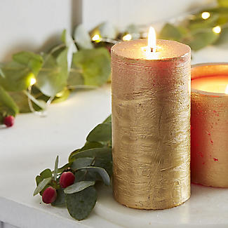 SPAAS Rustik Gold Pillar Candle alt image 2